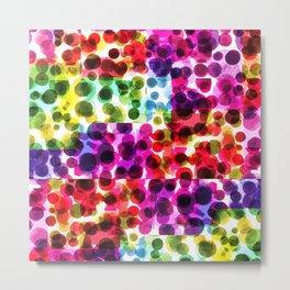 Kaleidoscopic Polka Dots Metal Print