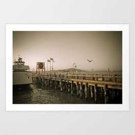 View of Alcatraz - The Rock Art Print