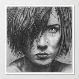 Love Hurts Pencil Drawing Canvas Print