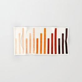 Burnt Sienna Watercolor Gouache Minimalist Staggered Stripes Mid Century Modern Art Hand & Bath Towel