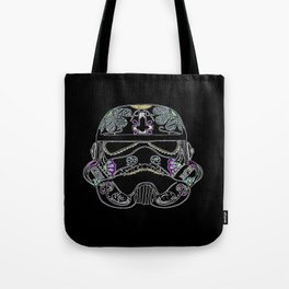 Day of the dead Storm Trooper head Tote Bag