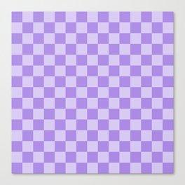 Lavender Check Canvas Print