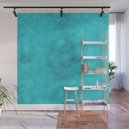 Metal Blue Turquoise Background Wall Mural