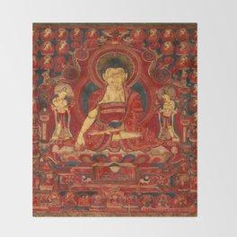 Buddha Shakyamuni as Lord of the Munis Throw Blanket