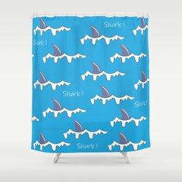 Shark fin pattern Shower Curtain