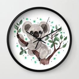 Koala Nursery Illustration Wall Clock