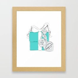 Blue Gift Box Framed Art Print
