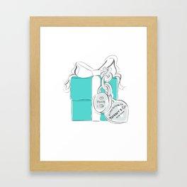 Blue Gift Box Framed Art Print