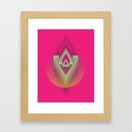 Pink Descent Framed Art Print