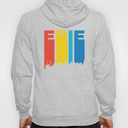 Retro 1970's Style Erie Pennsylvania Skyline Hoody
