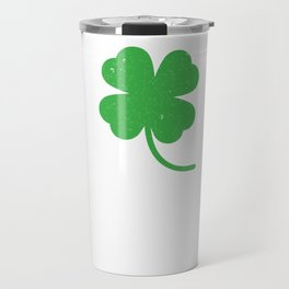 Distressed Four Leaf Clover St Patricks Day Travel Mug