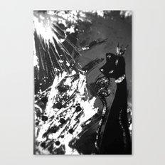 Black Cat Storm Canvas Print