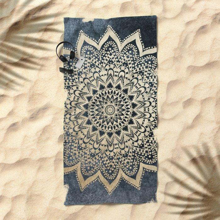 BOHO NIGHTS MANDALA Beach Towel