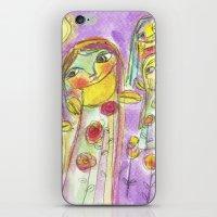 fairies iPhone & iPod Skins featuring Flower fairies by Dulcamara