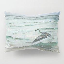 Anna Maria Island Florida Seascape with Heron Pillow Sham