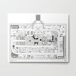 Dungeon Map Metal Print