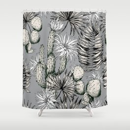 Cactuses with flowers Shower Curtain