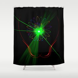 Light show 2 Shower Curtain