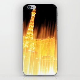 The golden fountains of Bellagio in Vegas iPhone Skin