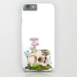 Skull and Magic Mushrooms Trippy iPhone Case