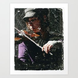 Violin in the Tunnel Art Print