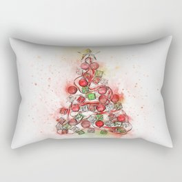 O'Christmas Tree of Lights Rectangular Pillow