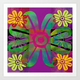 Paracas flowers II Art Print