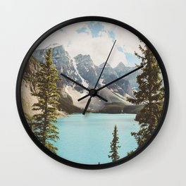 Moraine Lake II Banff National Park Wall Clock
