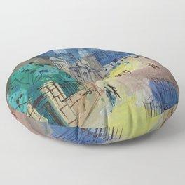 Jean Dufy Montmartre  Floor Pillow