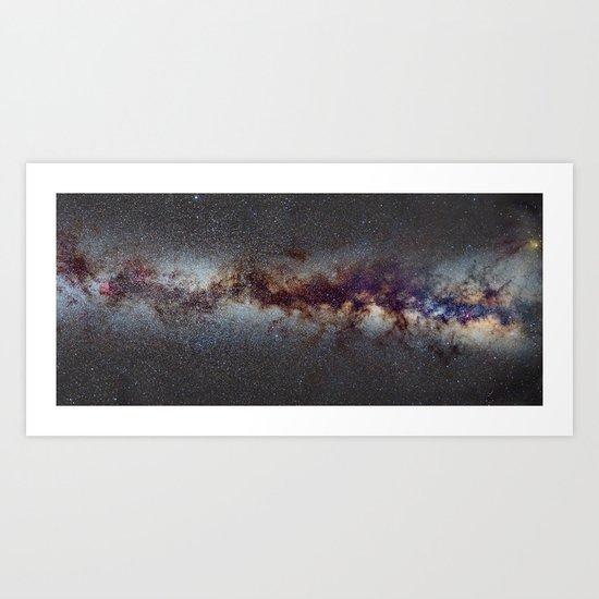 The Milky Way from Scorpio Antares and Sagitarius to North America Nebula in Cygnus Art Print