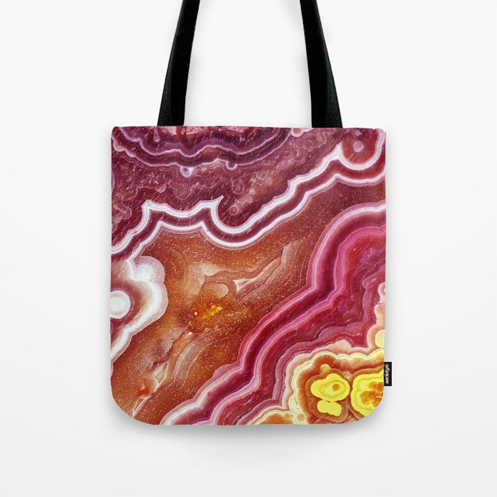 Red onyx marble Tote Bag