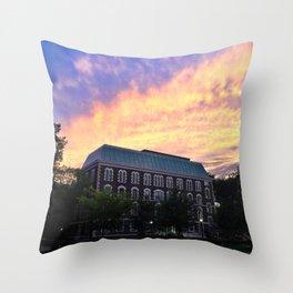Hughes Hall at Fordham University - Rose Hill Throw Pillow