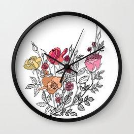 rose bush Wall Clock