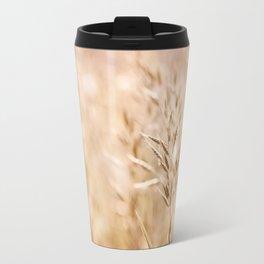 Sepia toned cereal grass inflorescence Travel Mug