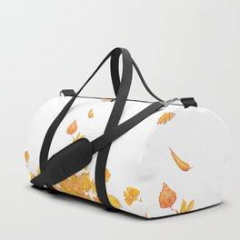 falling yellow leaves watercolor Duffle Bag