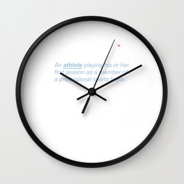 Rookie Definition Athlete Athletic Sports Lovers Wall Clock