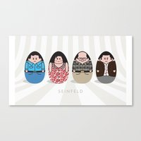 seinfeld Canvas Prints featuring Seinfeld by jengart