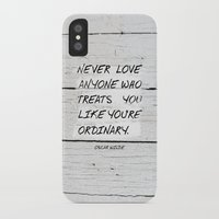 oscar wilde iPhone & iPod Cases featuring Quote / Oscar Wilde by Justified