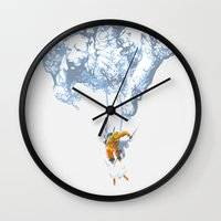 wallet Wall Clocks featuring Avalanche by Aneesh vini