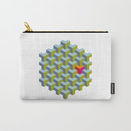 Be yourself - geomtric op art pattern Carry-All Pouch