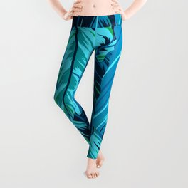 Blue Feathers of A Sweet Dream Leggings