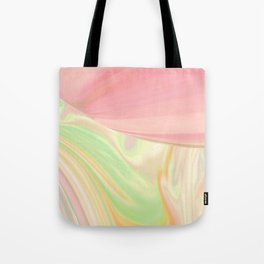 Complicated Pink to Peach to Green Tote Bag