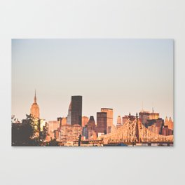NYC Morning Skyline Canvas Print
