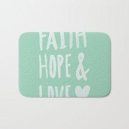 Faith Hope and Love x Mint Bath Mat