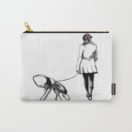 Pets ( and girl and her Beetle ) Carry-All Pouch
