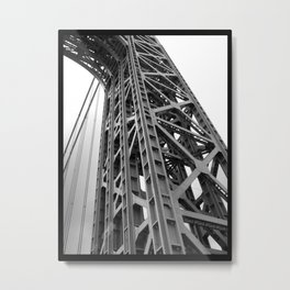 driving under the washington bridge Metal Print