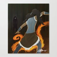 korra Canvas Prints featuring Korra by charcola