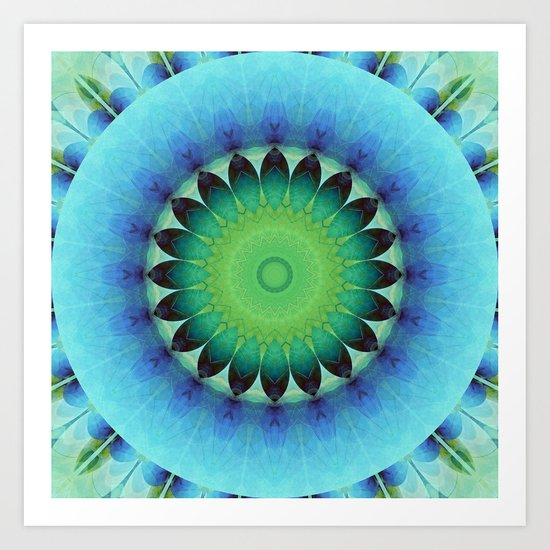 Mandala care Art Print