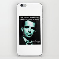 kerouac iPhone & iPod Skins featuring Jack Kerouac by Guido prussia