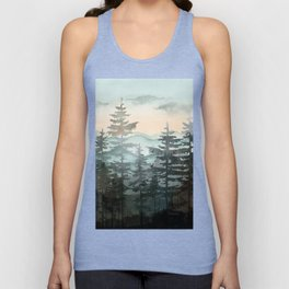 Pine Trees Unisex Tank Top